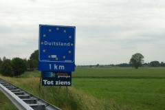 Euro-Diversion 2013 La vuelta a Europa en Moto.ETAPA 8 Amsterdam-Hamburgo Frontera alemana