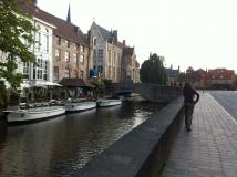 Euro-Diversion 2013 La vuelta a Europa en Moto.ETAPA 7 Brujas-Amsterdam Canales de Brujas07