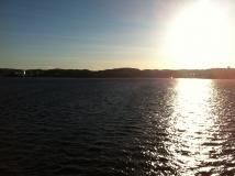 Euro-Diversion 2013 La vuelta a Europa en Moto.ETAPA 9 Hamburgo-Hirtsals-Kristiansand Llegando en el ferry a Kristiansand