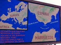 Euro-Diversion 2013 La vuelta a Europa en Moto.PROLOGO. Tarifa-Sevilla-Tarifa. En el Punto más al sur de Europa