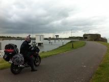 Euro-Diversion 2013 La vuelta a Europa en Moto.ETAPA 8 Amsterdam-Hamburgo La gran barrera